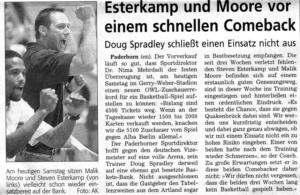Saison 2006-07 Moor, Esterkamp