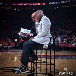 Lamar Hurd während der Arbeit in der Arena der Portland Trail Blazers (Foto: Twitter)