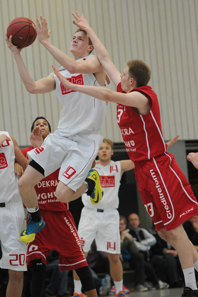 Moritz Hüber zeigte in Göttingen eine gute Leistung
