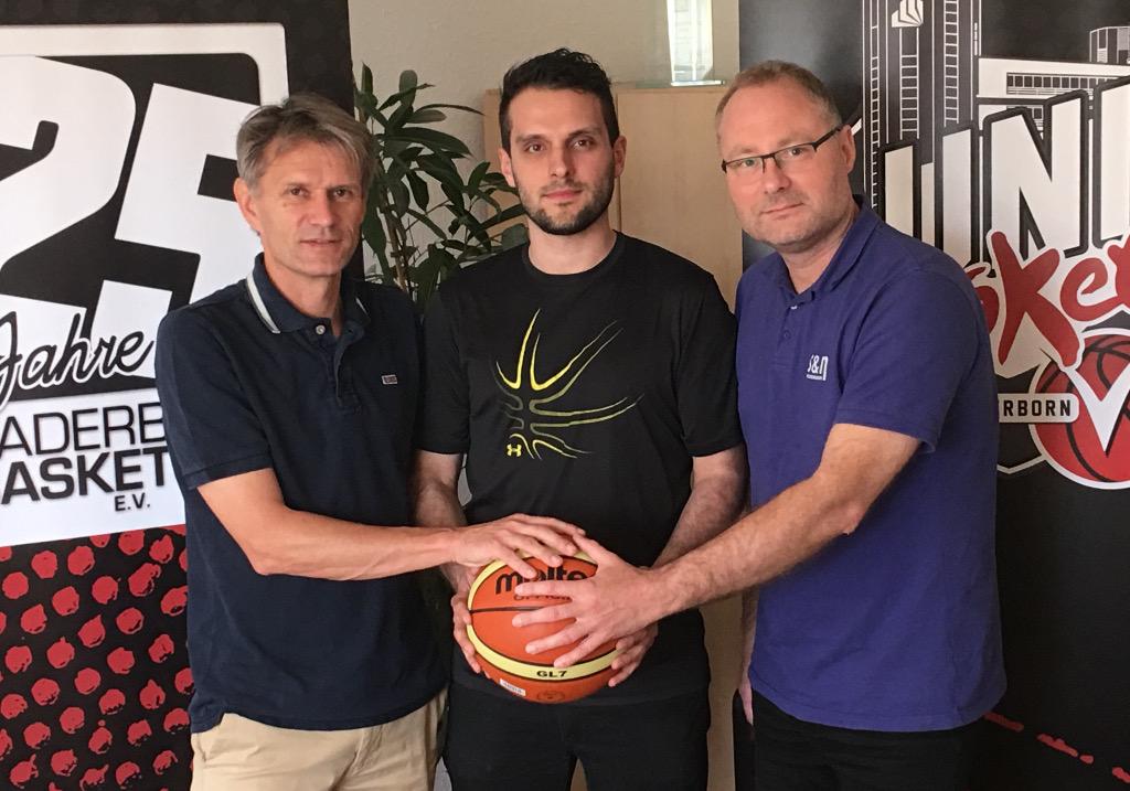 Vizepräsident Dirk Happe, Werner Gorsky, Vizepräsident Olaf Port.