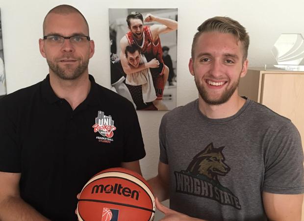 Freut sich auf die neue Saison: Matt Vest mit Uli Naechster