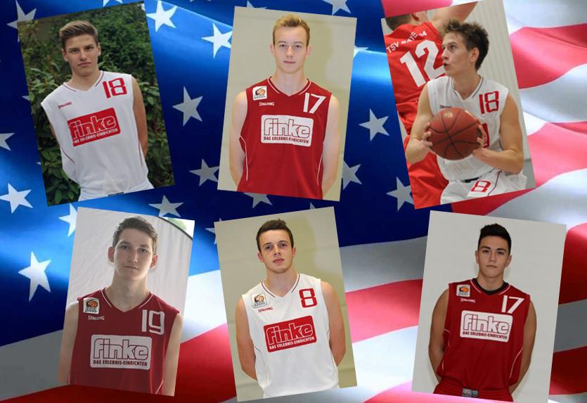 Jan-Philip Dübbelde, Finn Tegethoff, Anton Perepeliukov, Christopher Kleinkes, Marcel Freitag und Hasan Demirbas