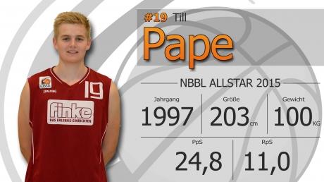 Till Pape - NBBL Allstar 2014/15
