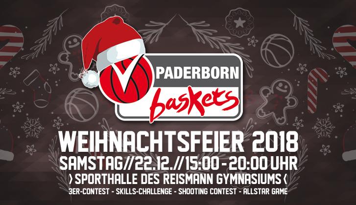 Einladung Weihnachtsfeier Verein.Einladung Zur Vereins Weihnachtsfeier Der Paderborn Baskets