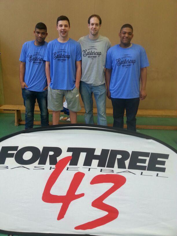Coach Andy Riebold, Jan Protte und die Jackson-Zwillinge