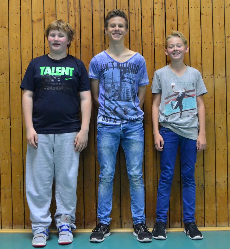 v.l.n.r.: Philipp von Hagen, Luca Kulage, Björn Mollemeier
